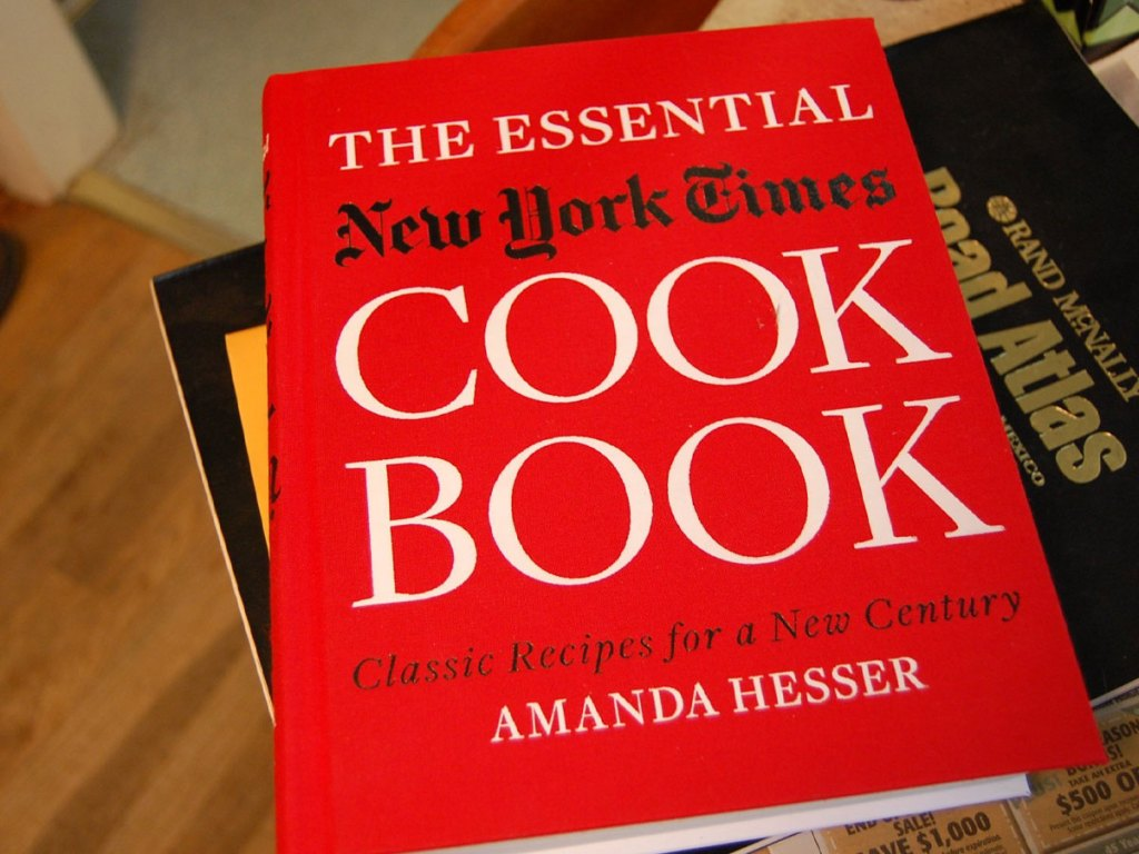 new york times cook book hardcover up close