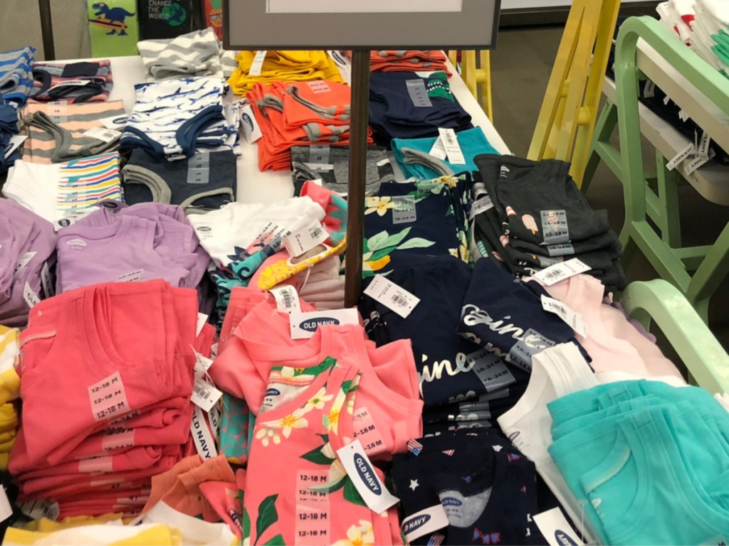 toddler girls old navy tanks and tees in store