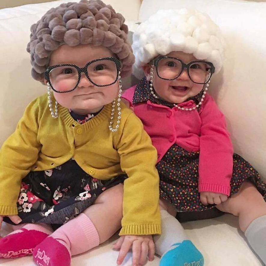old lady baby Halloween DIY costume