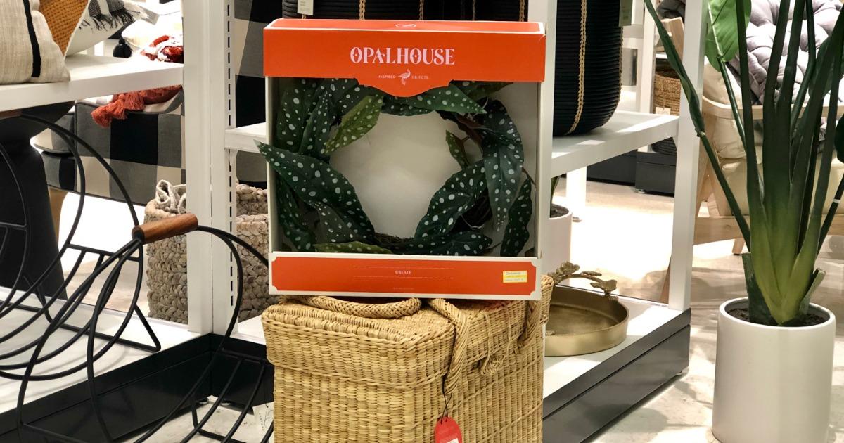 green wreath in store