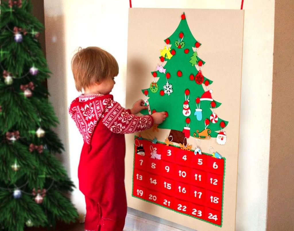OurWarm Christmas Tree Fabric Advent Calendar