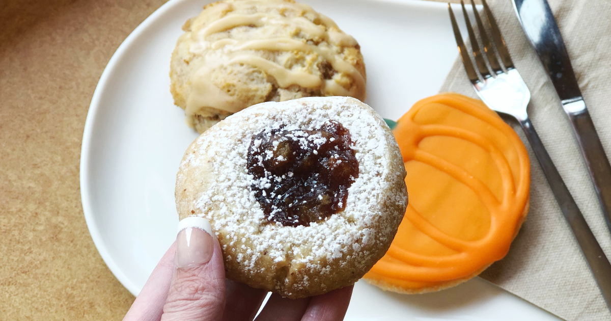 Panera's apple pie thumbprint almond cookie