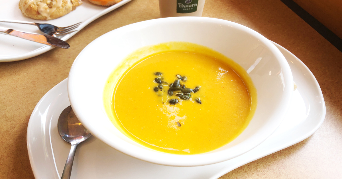 Panera Autumn Squash Vegetarian Soup