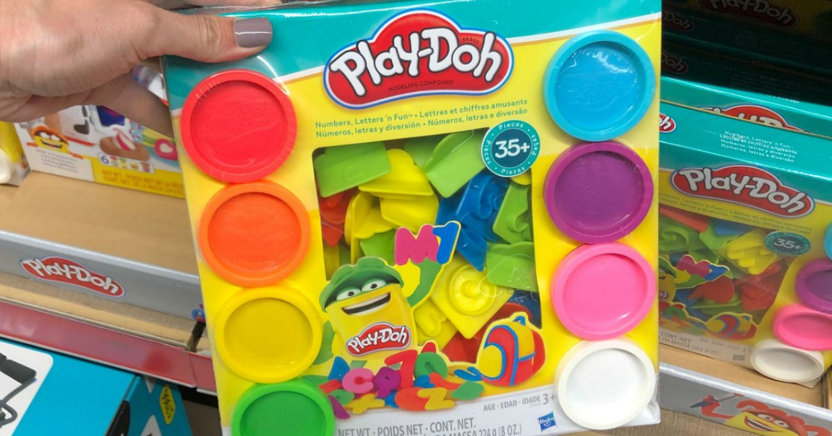play-doh numbers and letters set in box