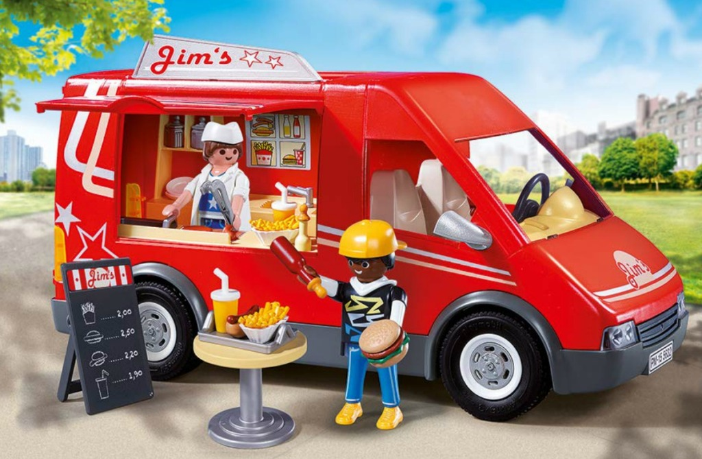food truck with figures