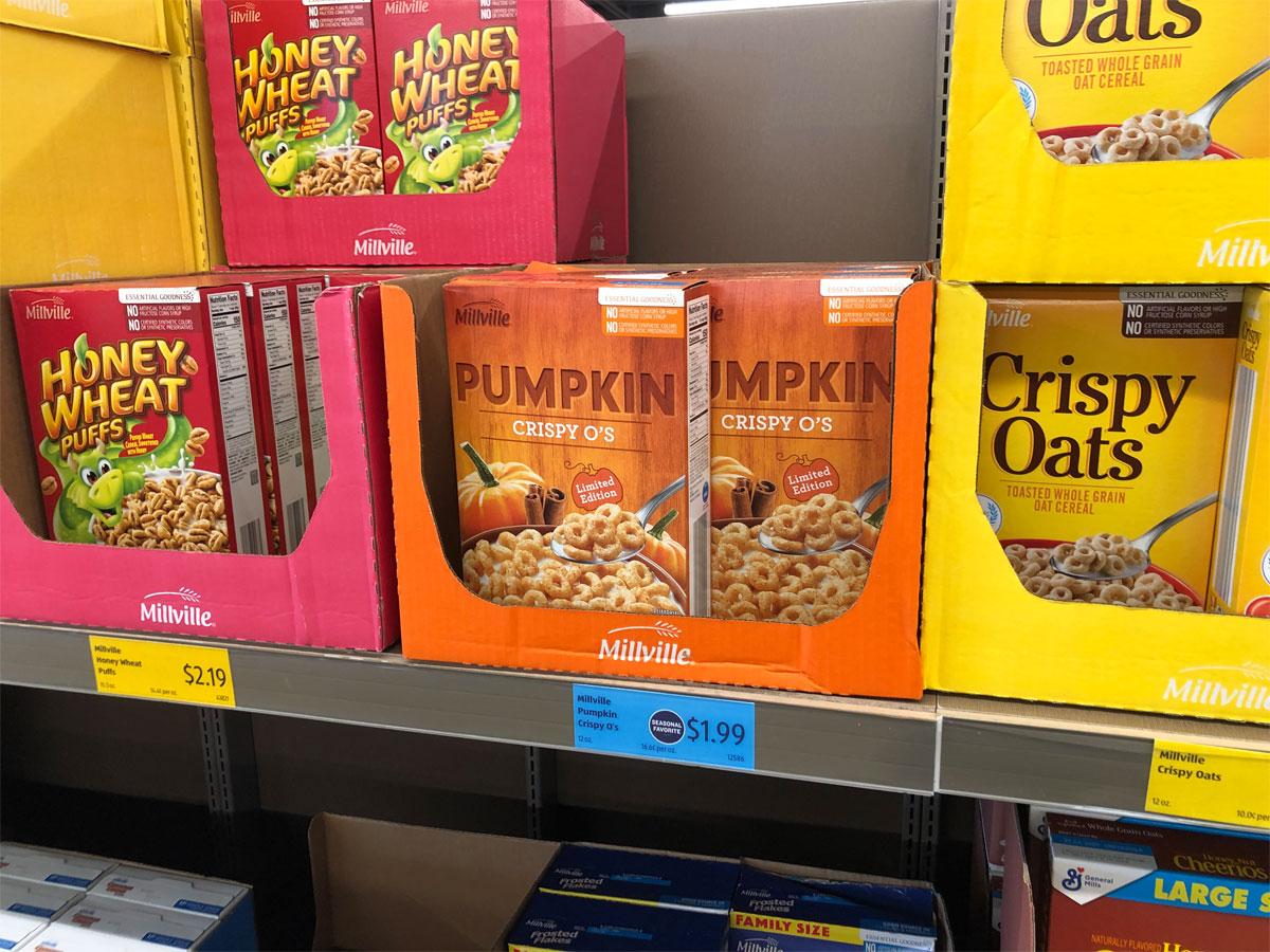 millville pumpkin crispy o's cereal