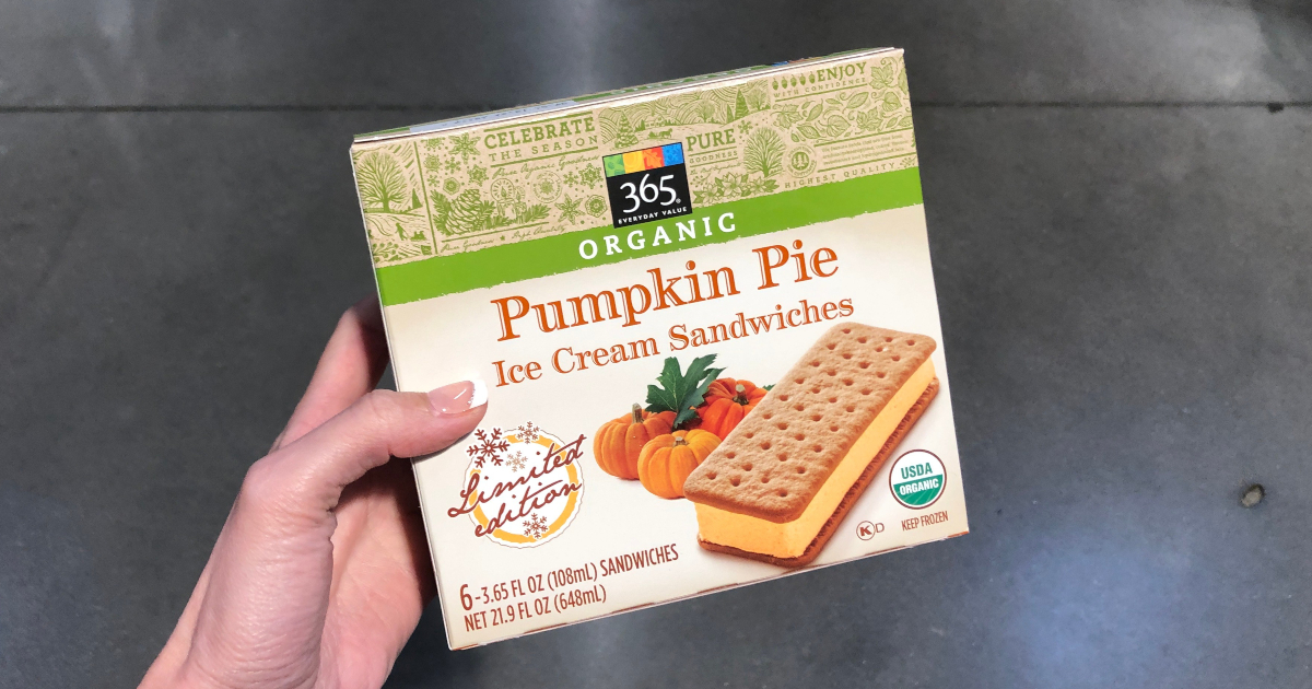 10 Seasonal Finds From Whole Foods Market | Pumpkin Pie Ice Cream Sandwiches, Pasta Sauce & More