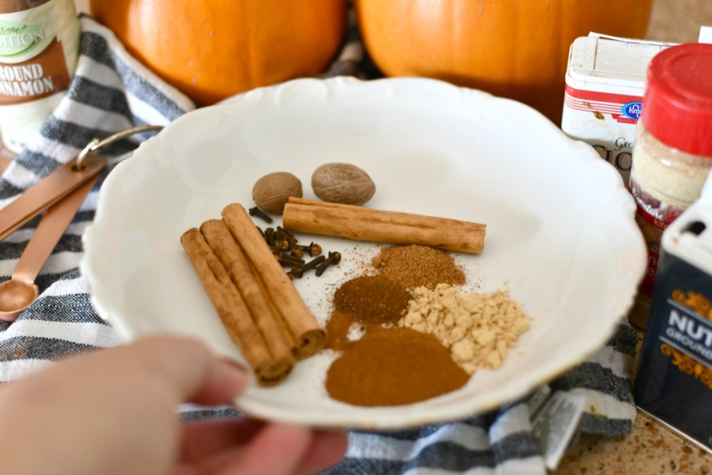 diy pumpkin pie spice on a plate