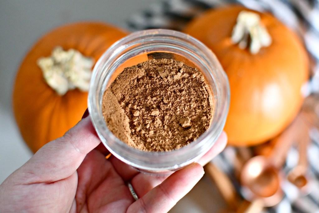 pumpkin spice blend in a jar