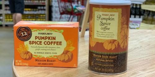 Trader Joe's Pumpkin Spice Coffee & Tea Now Available