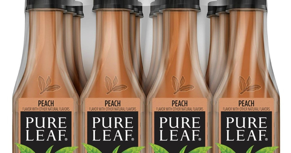stock image of pure leaf peach iced tea
