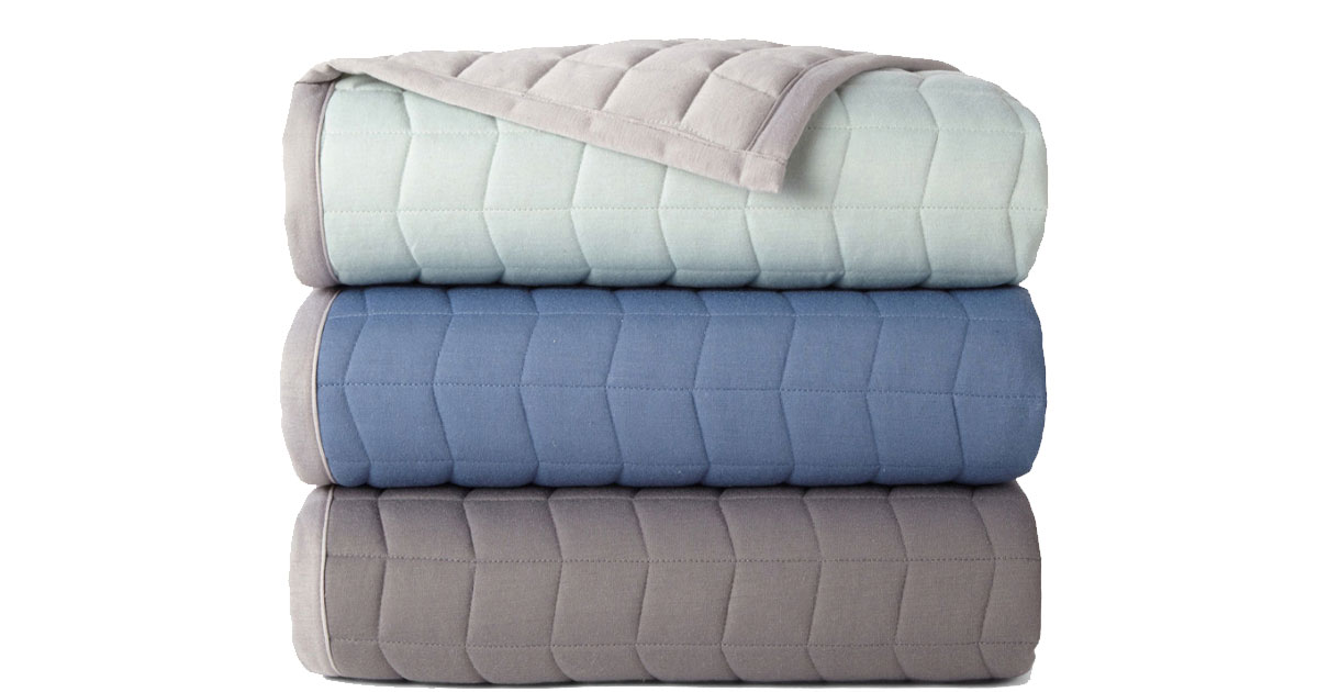 jcpenney quilted throws in three colors