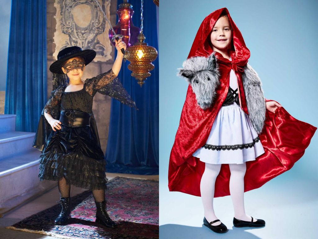 lady bandina and red riding hood costume