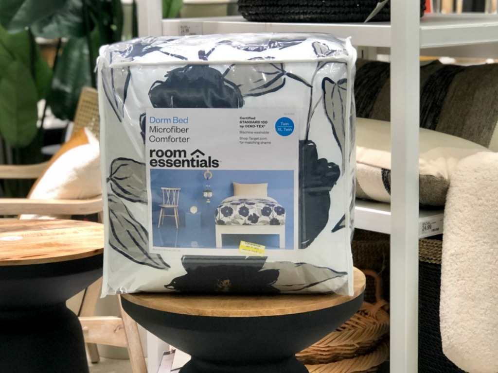 mattress wrapped in packaging on table in store