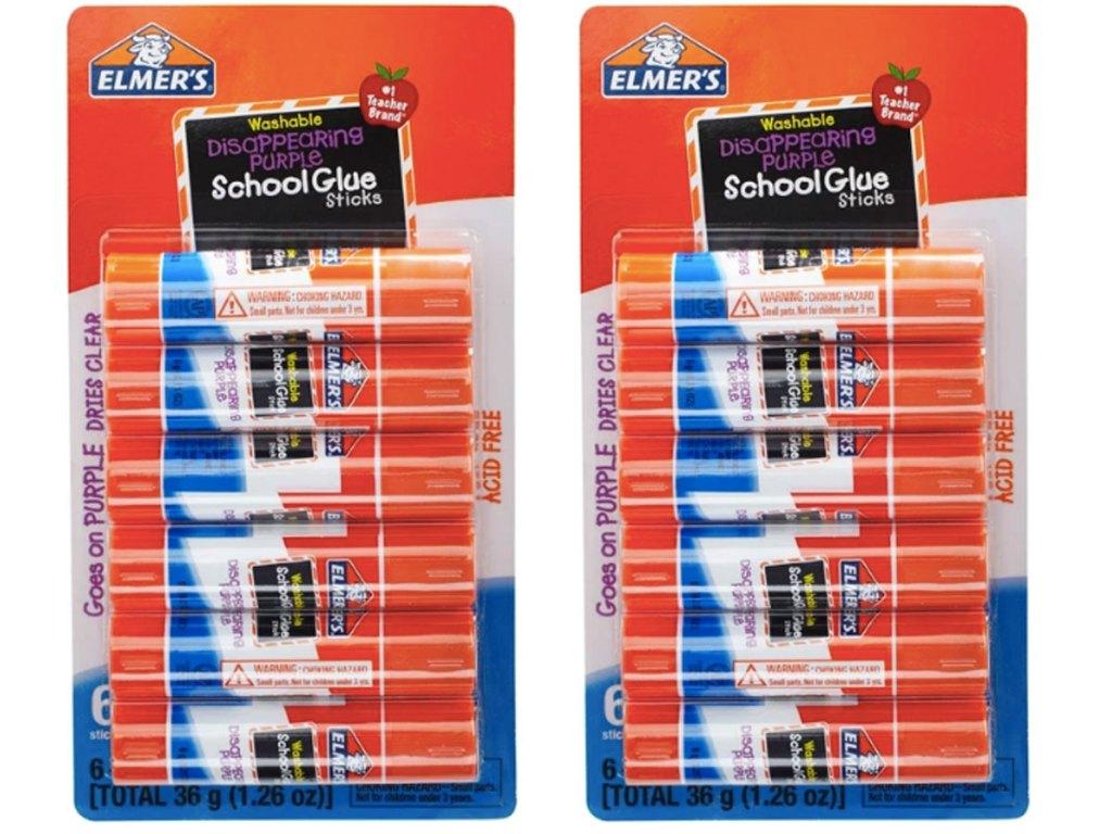 2 packs of 6 ct elmer's school glue sticks