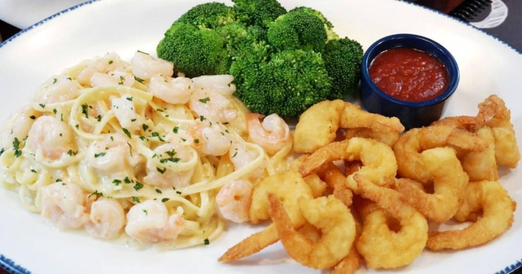 Red Lobster shrimp on plate