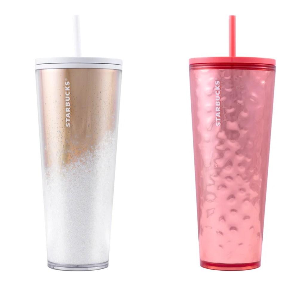 2 Starbucks cold cups