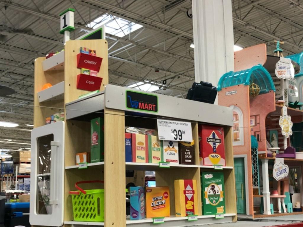 play set on store display
