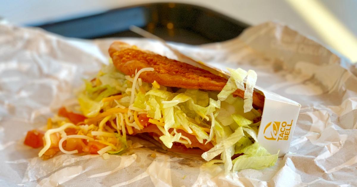 Taco Bell cheddar chalupa