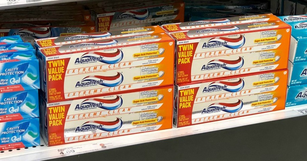 aquafresh toothpaste twin packs at target