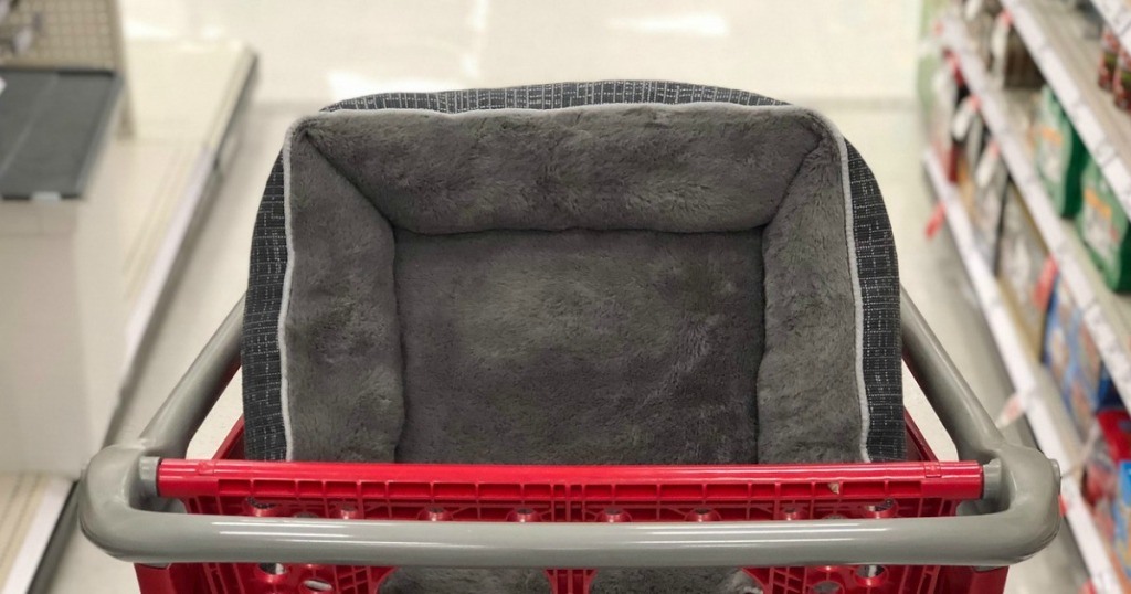 dog bed in shopping cart at target