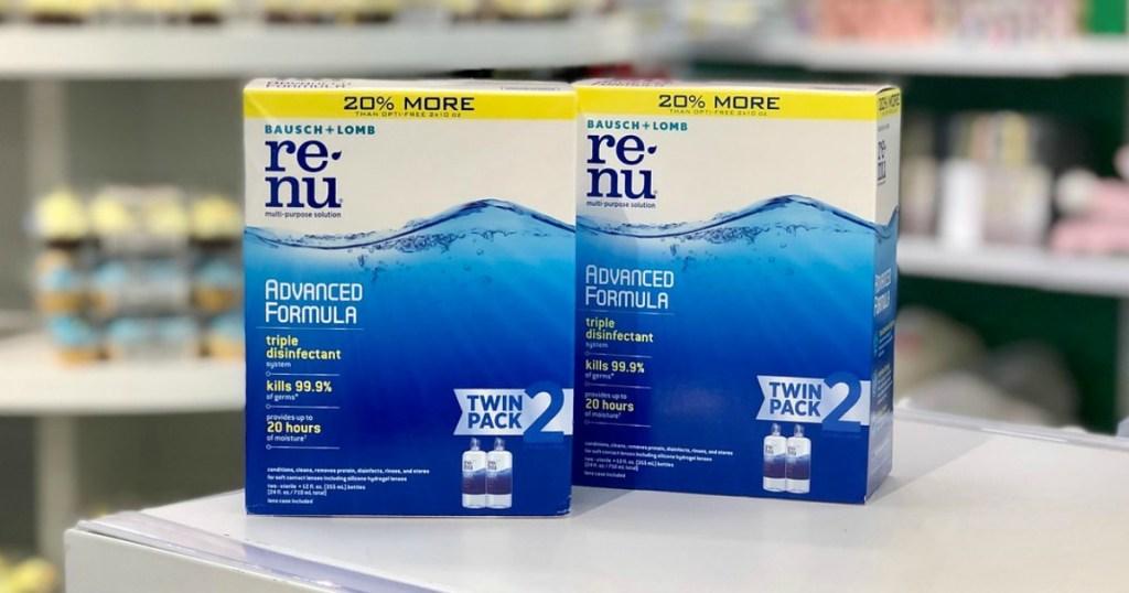 renu contact lens solution at target