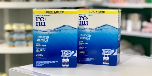 Bausch + Lomb ReNu Lens Solution Twin Pack Only $8 Shipped at Amazon (Just $4 Each)