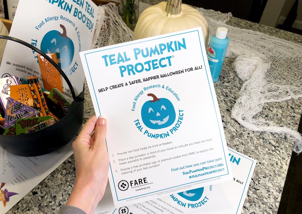 image relating to Teal Pumpkin Printable titled What is the Teal Pumpkin Job How toward Take part this