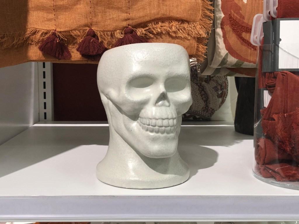"threshold 8.8"" x 7.2"" Terracotta Skull Shaped Vase"
