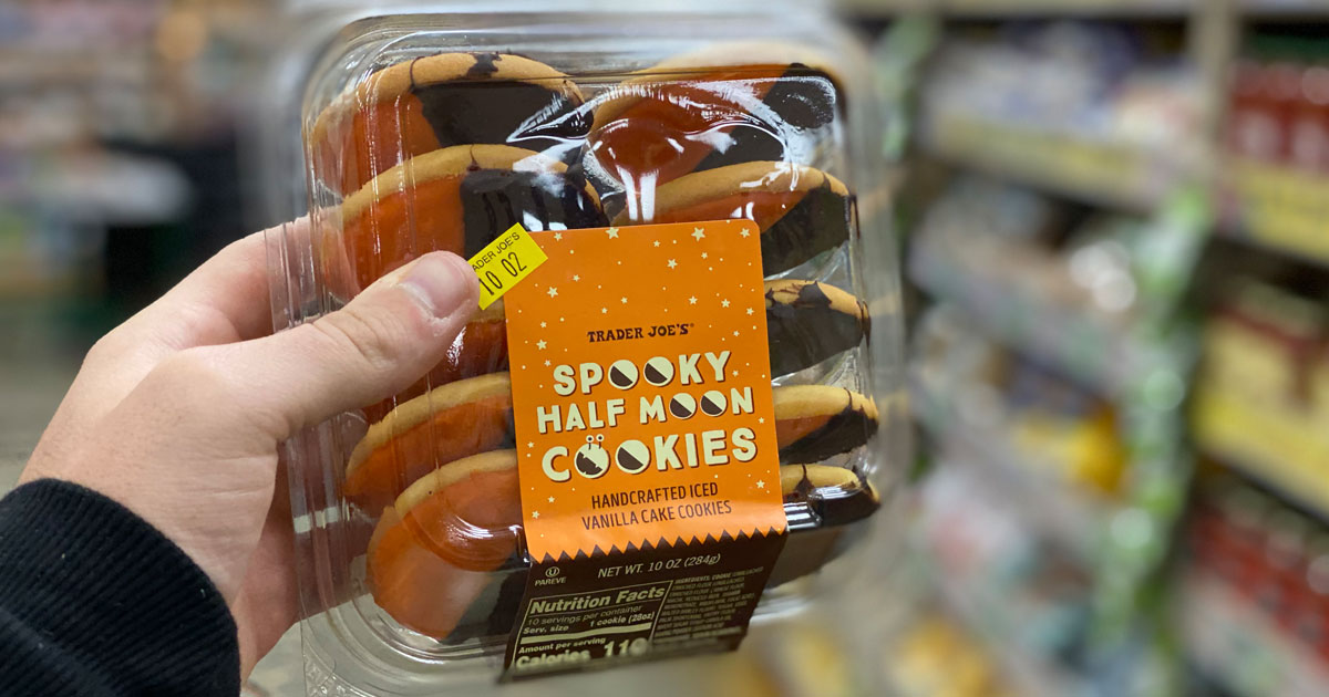 Spooky Half Moon Cookies at Trader Joe's