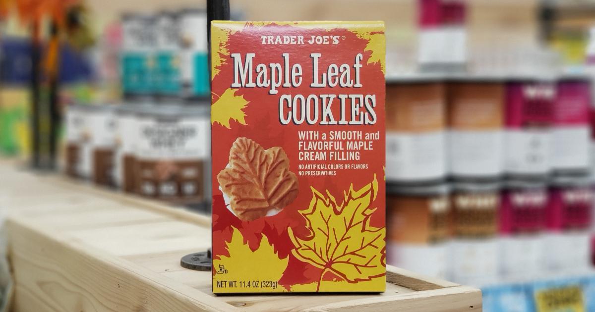 best Trader Joe's Thanksgiving foods - Trader Joe's Maple Leaf Cookies