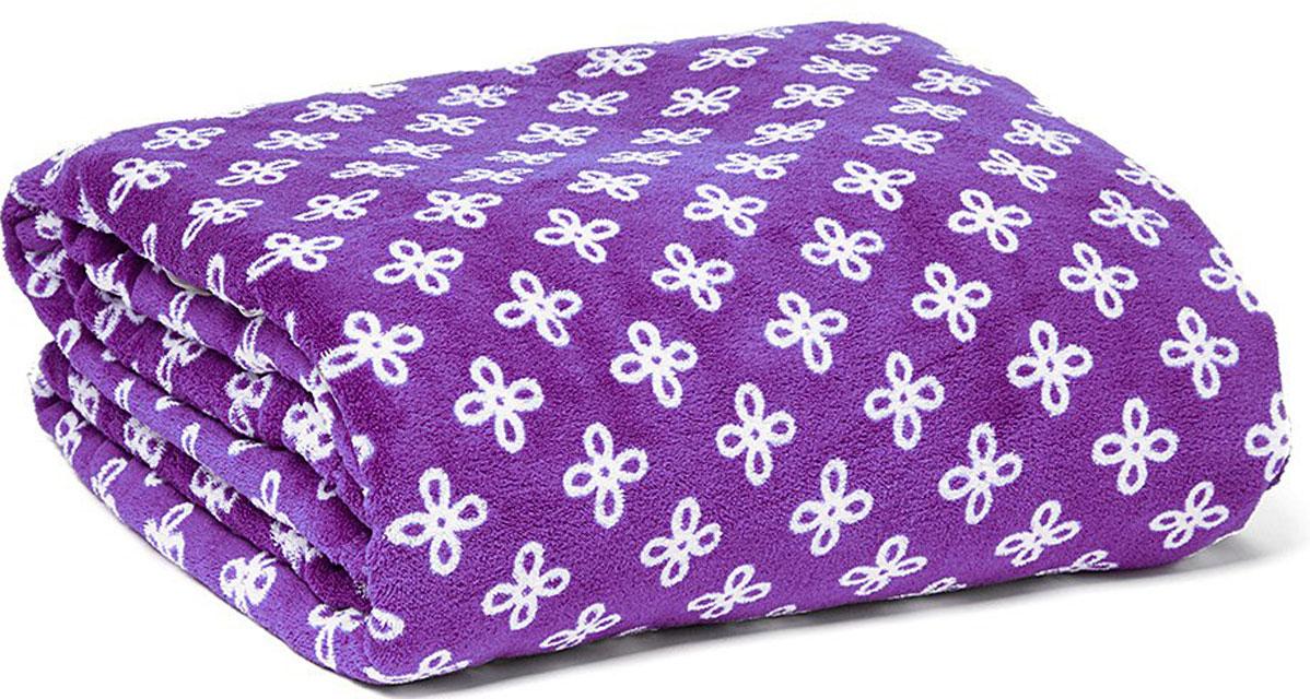 Vera Bradley purple and white throw blanket