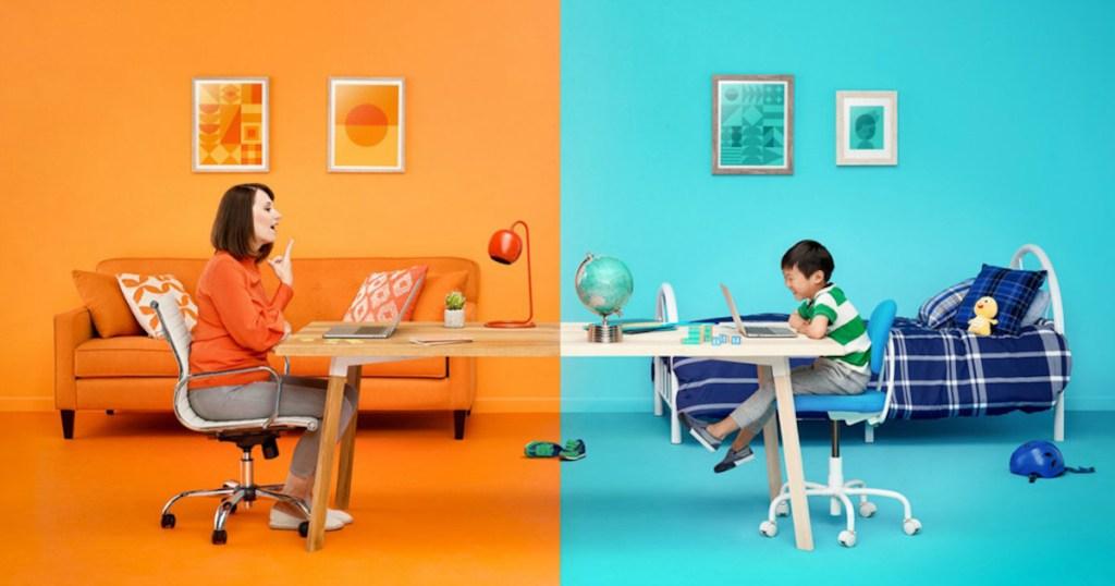 vipkid teacher with child on desk