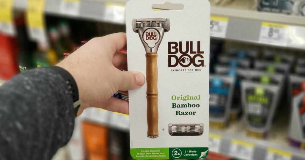 bulldog original bamboo razor at walgreens