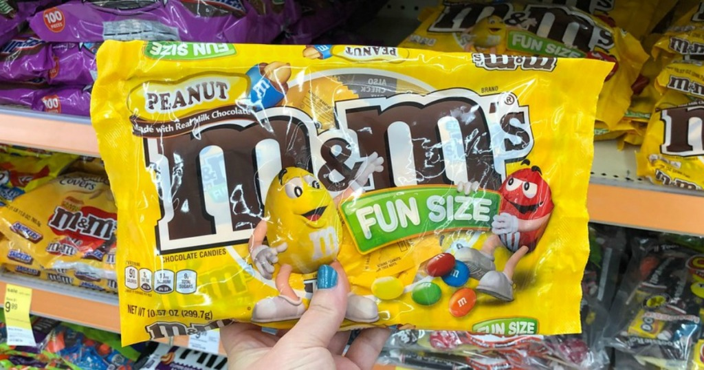 fun size peanut m&m's halloween candy at walgreens