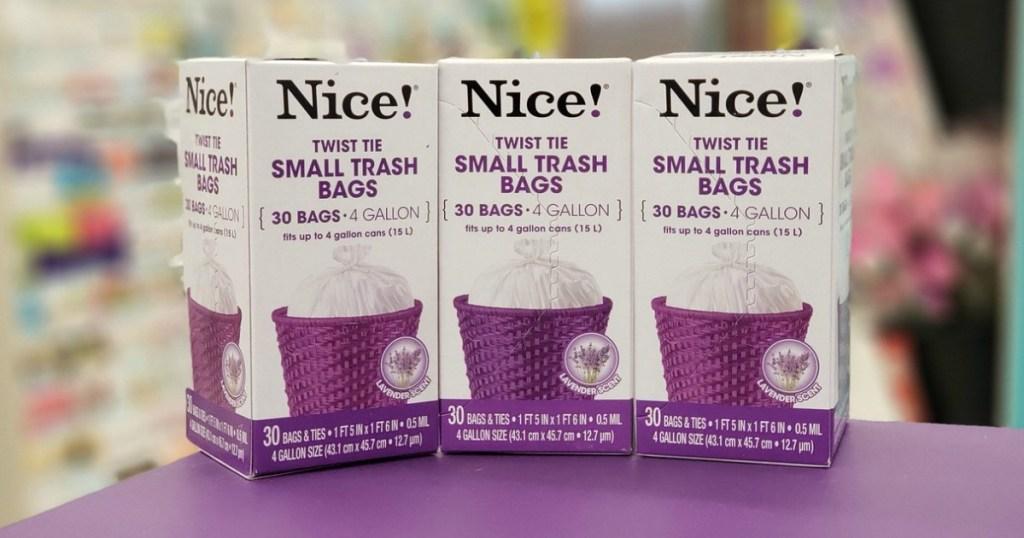 nice! 4-gallon trash bags at walgreens