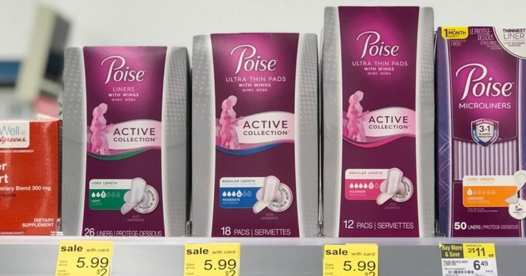 poise active pads at walgreens