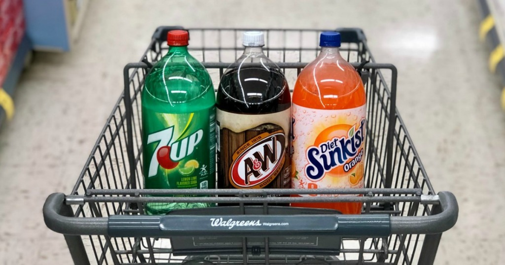 7up, a&w and diet sunkist 2 liter soda at walgreens