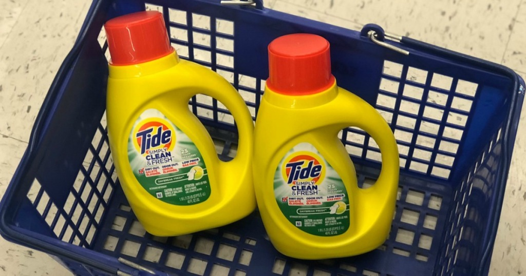 tide simply laundry detergent at walgreens