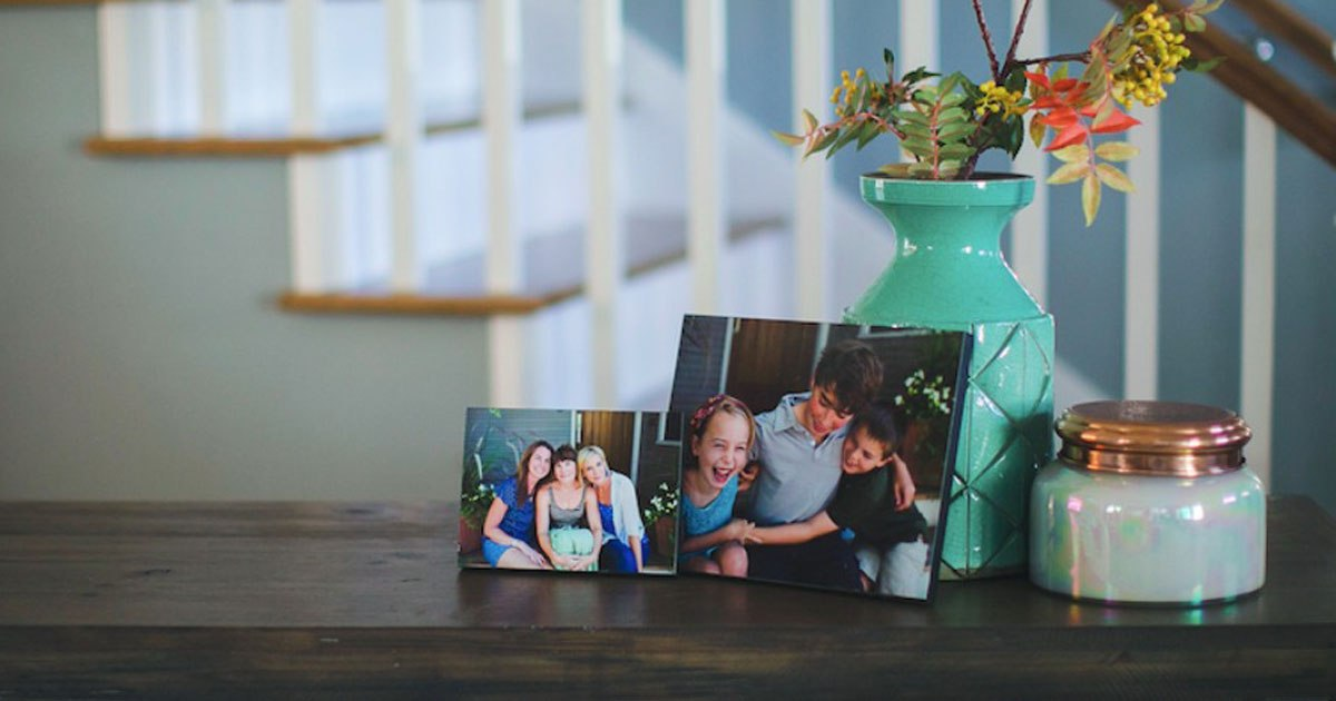 collin's children and sisters with walgreens wood photo print