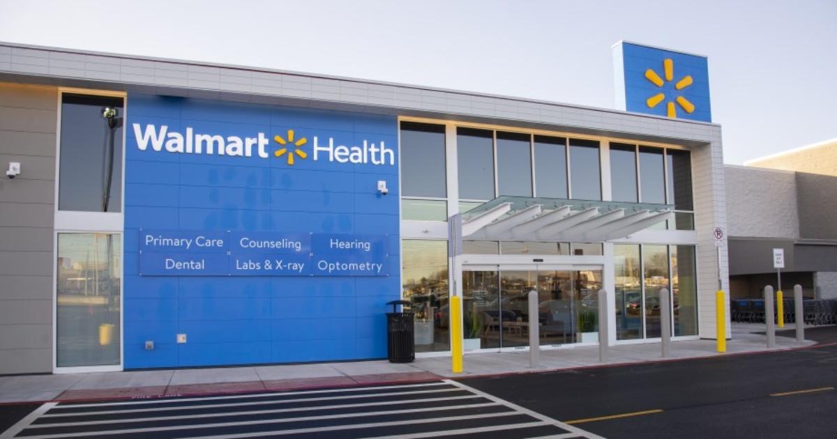 exterior of Walmart Health Center