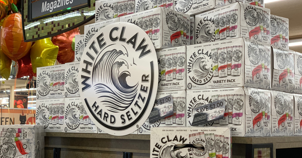 White Claw on display at store