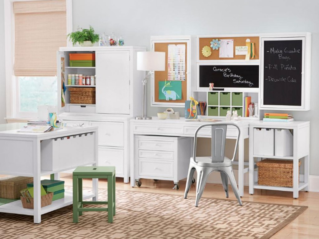 Martha Stewart Living White Picket Fence Storage Hutch
