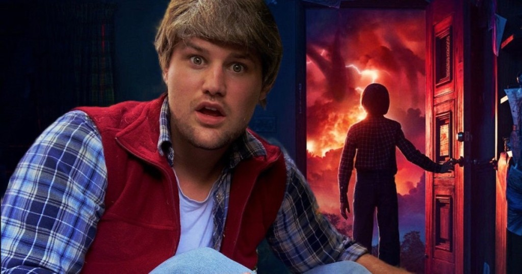 man dressed as stranger things show
