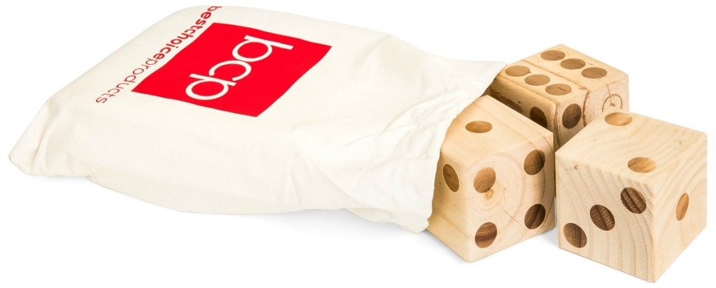 Best Choice Products Wood Dice in bag