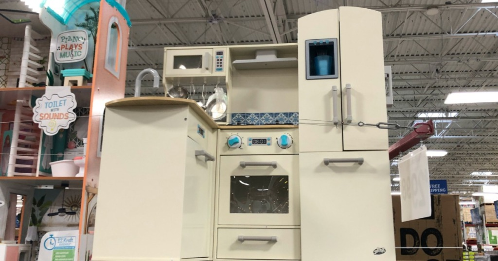 Deluxe Wooden Kitchen or Supermarket Play Center Only $99.98 ...