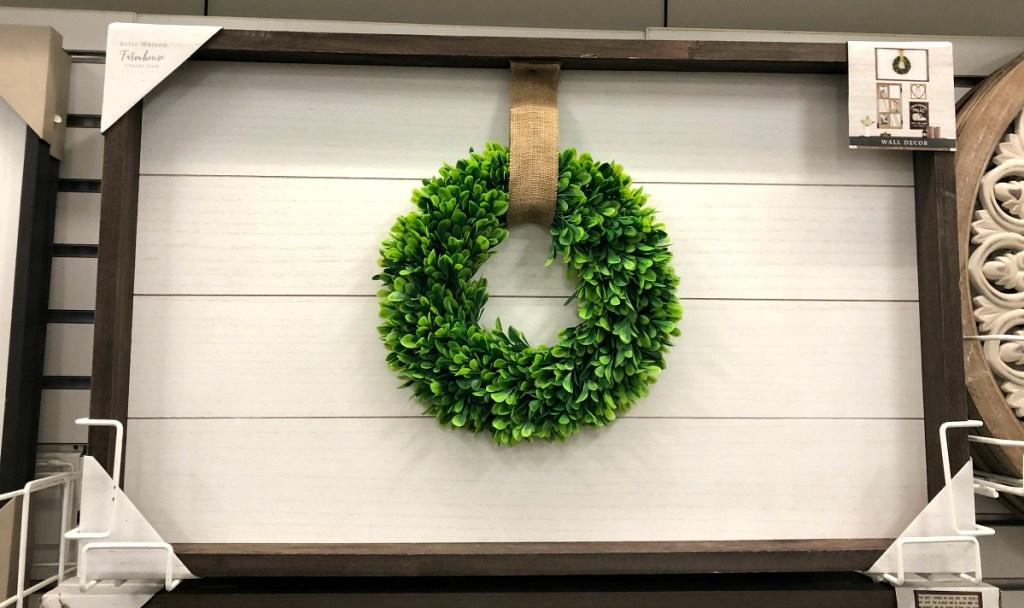 wreath farmhouse sign at Kohl's