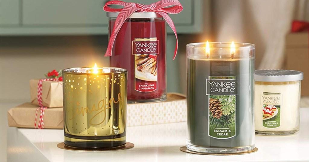 balsam cedar, sparkling cinnamon, Christmas cookie and imagine candle
