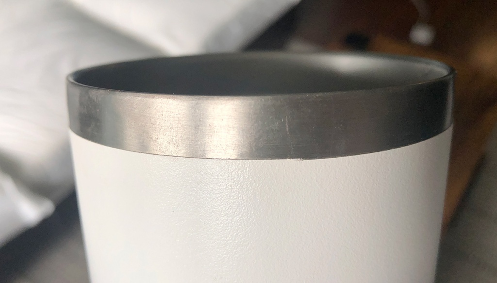 Close up of Yeti cup without a lipstick mark