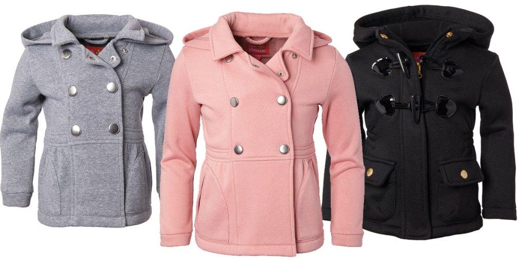 Zulily hooded fleece jackets and peacoats